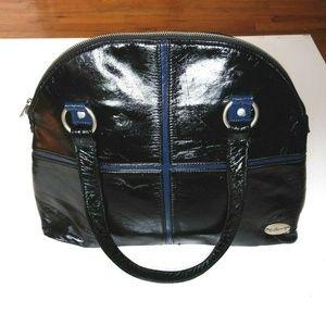 Billabong shoulder bag black faux leather